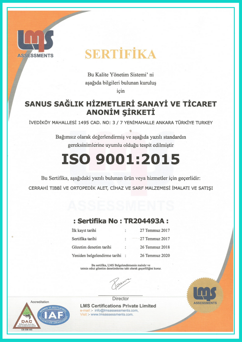 Certifications - SANUS Health - Hemodialysis Connection
